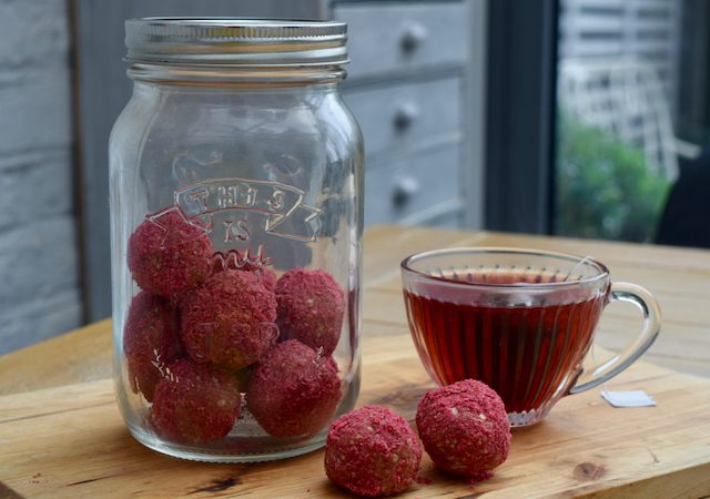 Raspberry and Coconut Balls recipe from Lucy Loves Food Blog