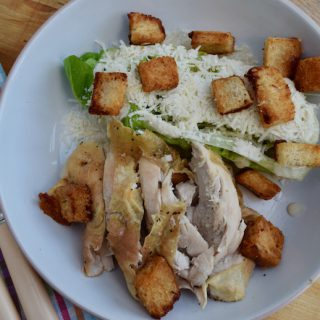 Roast Chicken Caesar Salad recipe from Lucy Loves Food Blog