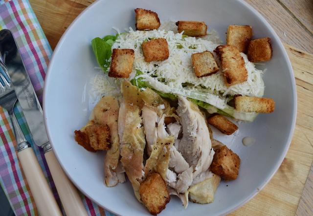 Roast Chicken Caesar Salad recipe from Lucy Loves Food Blog