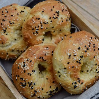 Two Ingredient Bagels recipe from Lucy Loves Food Blog