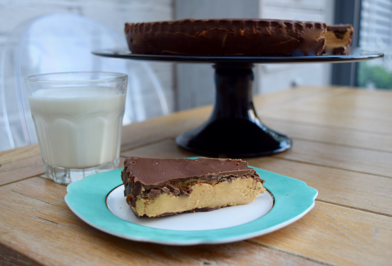 Giant Peanut Butter Cup recipe from Lucy Loves Food Blog