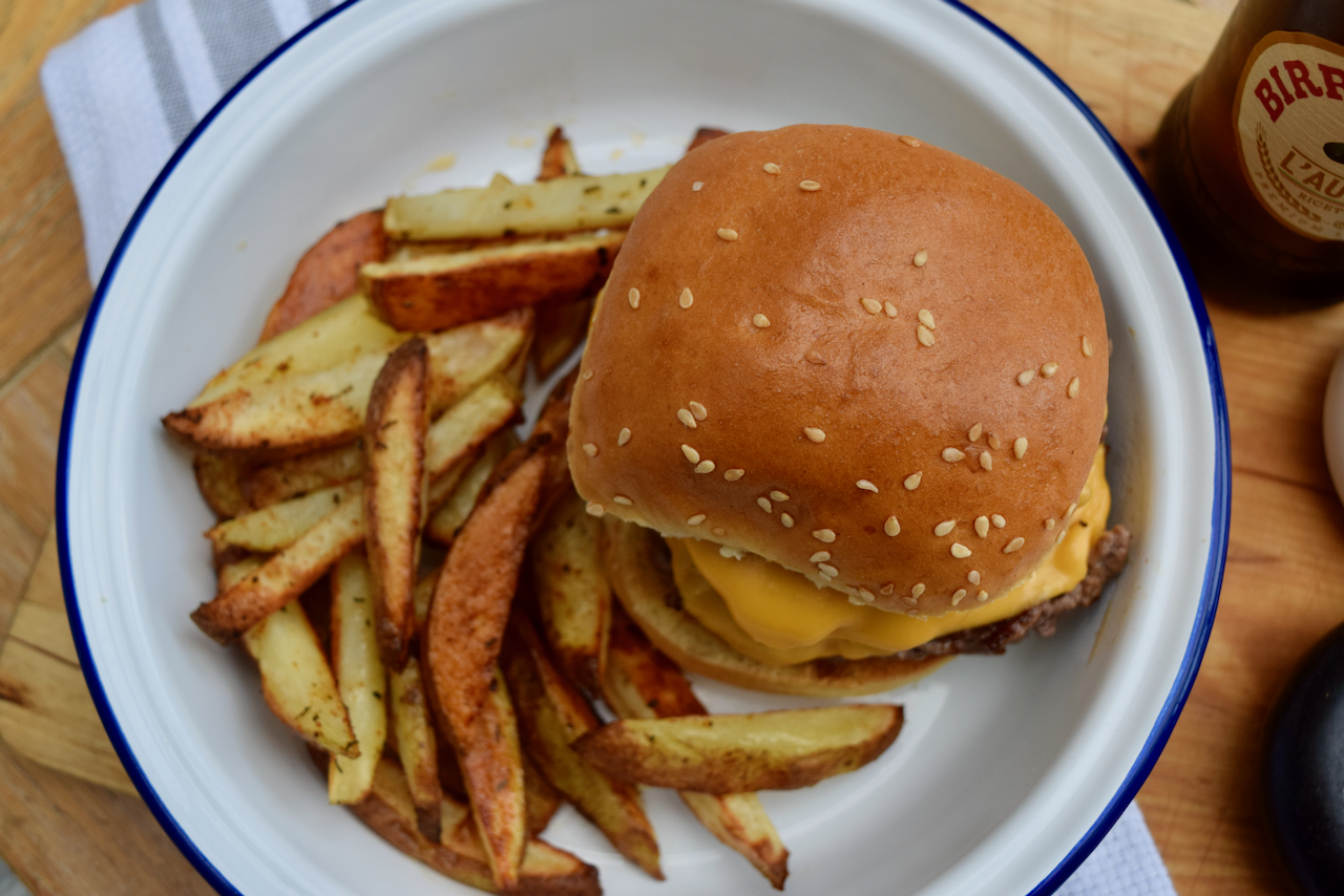 Double Cheese Smash Burgers recipe from Lucy Loves Food Blog