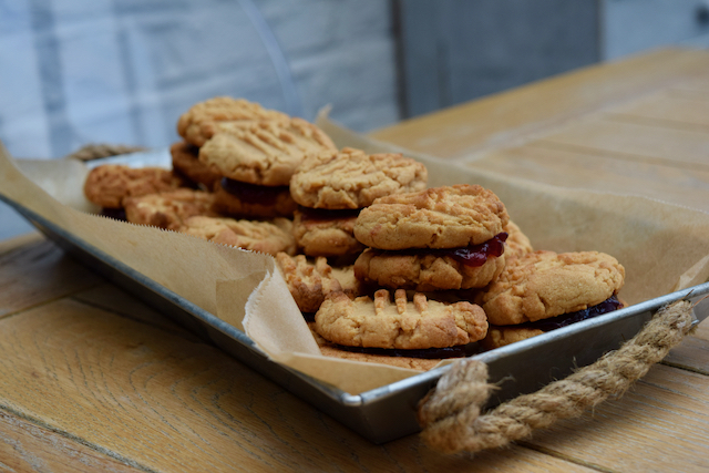 PB and J Sandwich Cookies recipe from Lucy Loves Food Blog