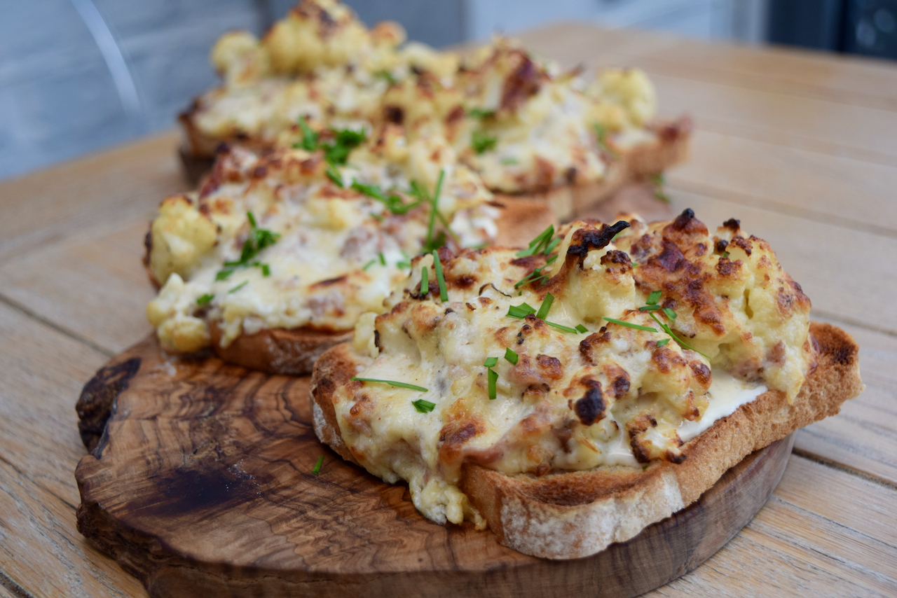Cauliflower Cheese Toasts recipe from Lucy Loves Food Blog