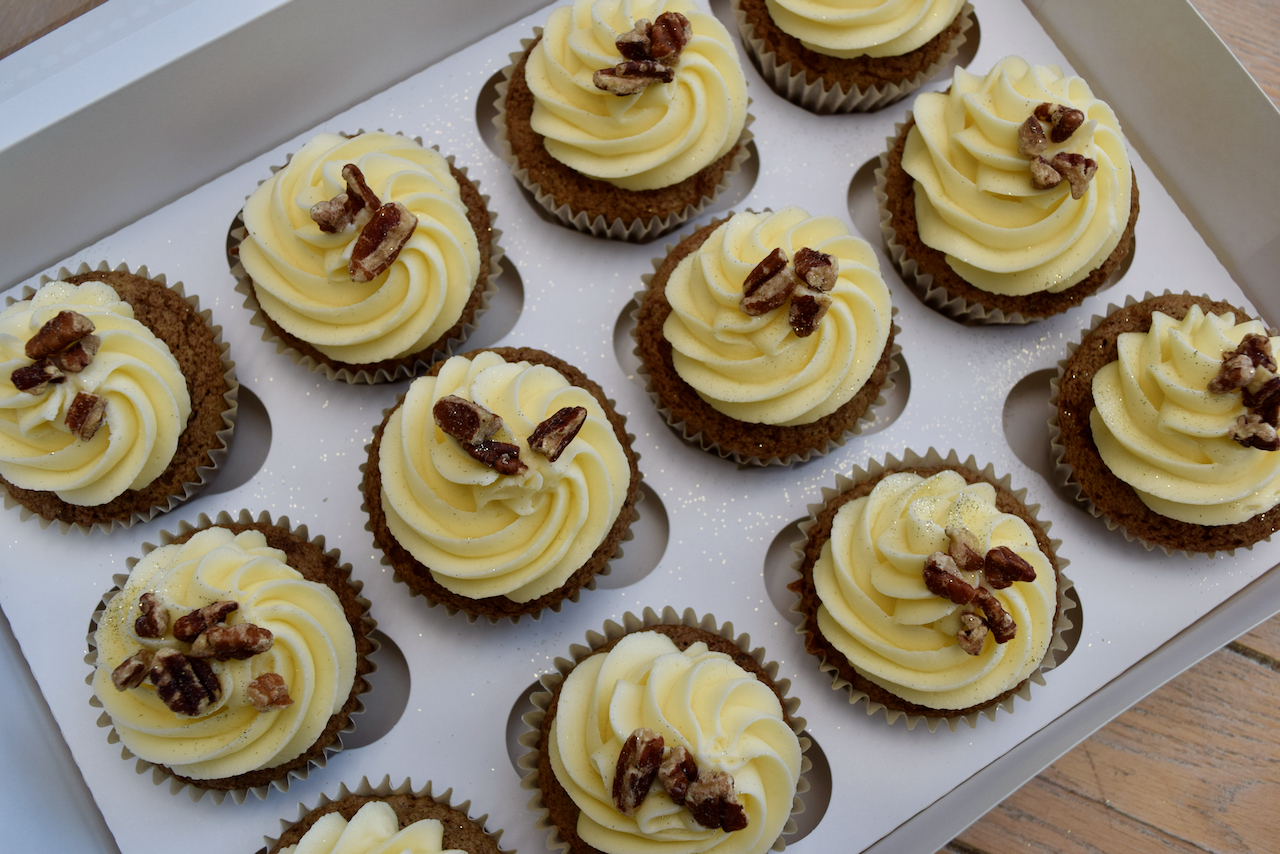 Carrot Cake Cupcakes recipe from Lucy Loves Food Blog