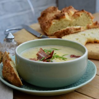 Loaded Potato Soup recipe from Lucy Loves Food Blog