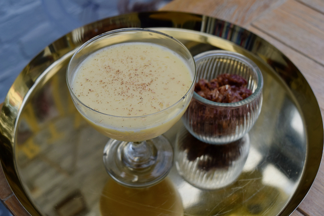 Christmas Velvet Alexander cocktail from Lucy Loves Food Blog