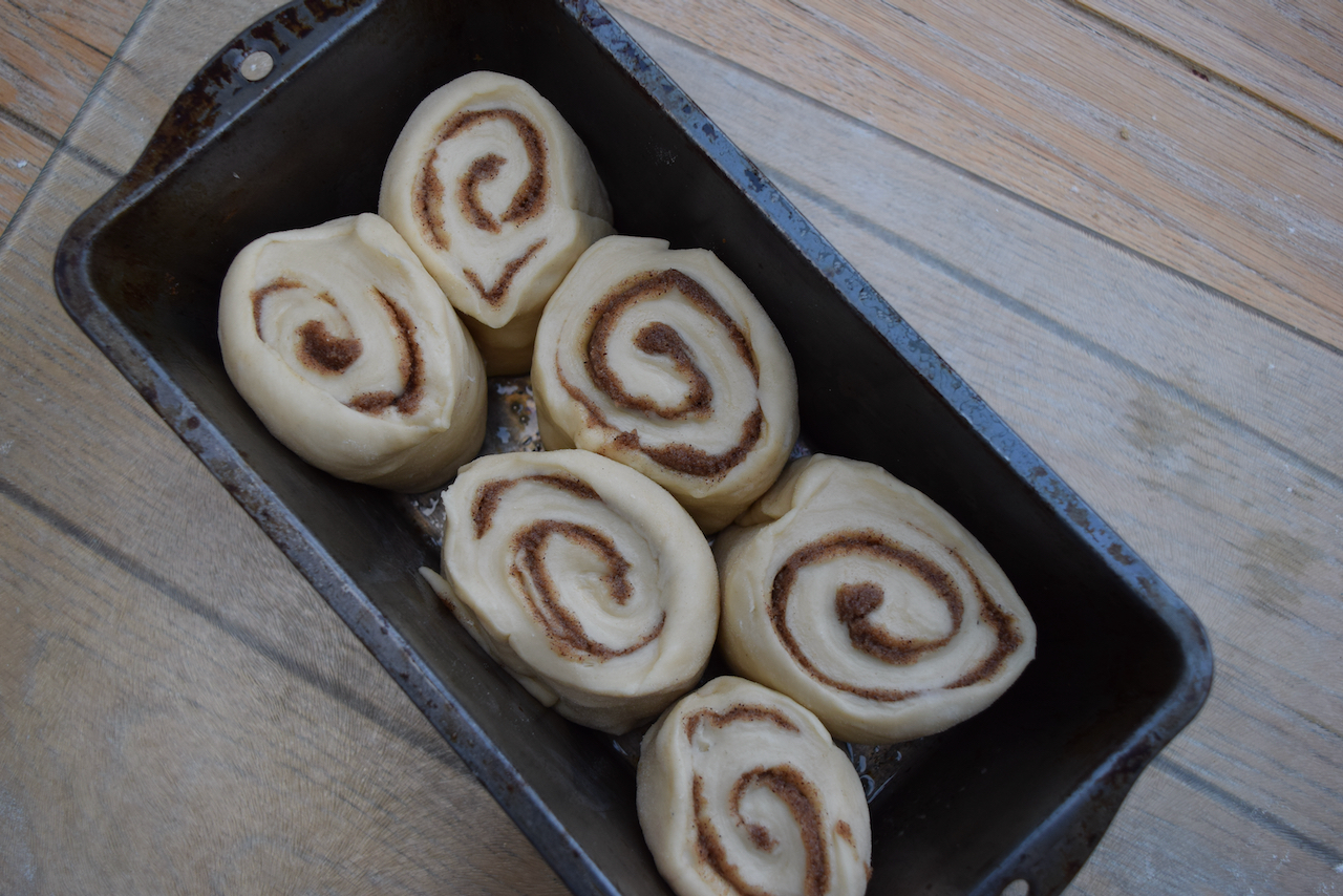 CInnamon Roll Sharing Loaf recipe from Lucy Loves Food Blog
