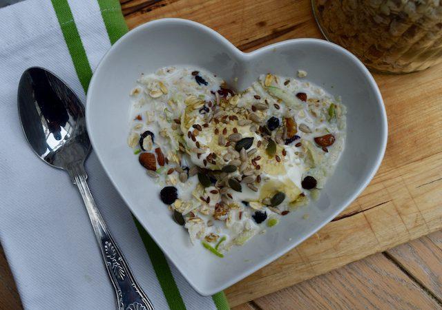 Homemade Bircher Muesli recipe from Lucy Loves Food Blog