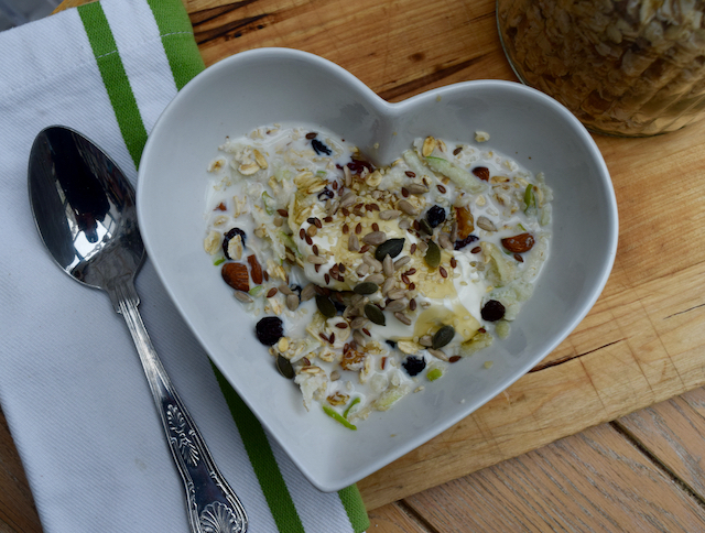 Homemade Bircher Muesli recipe from Lucy Loves Food Blog