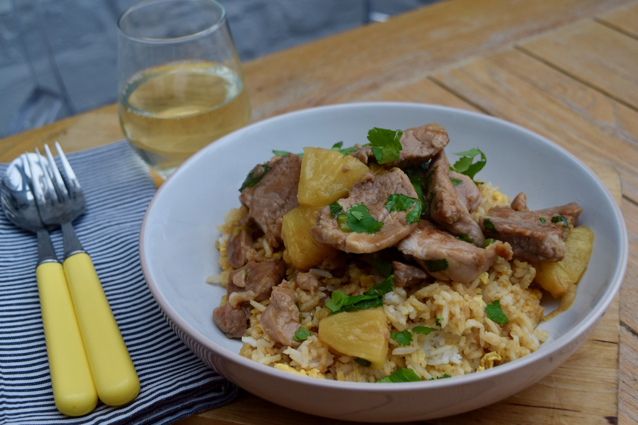 Pork with Pineapple recipe from Lucy Loves Food Blog