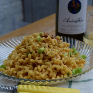 Spicy Miso Pasta recipe from Lucy Loves Food Blog