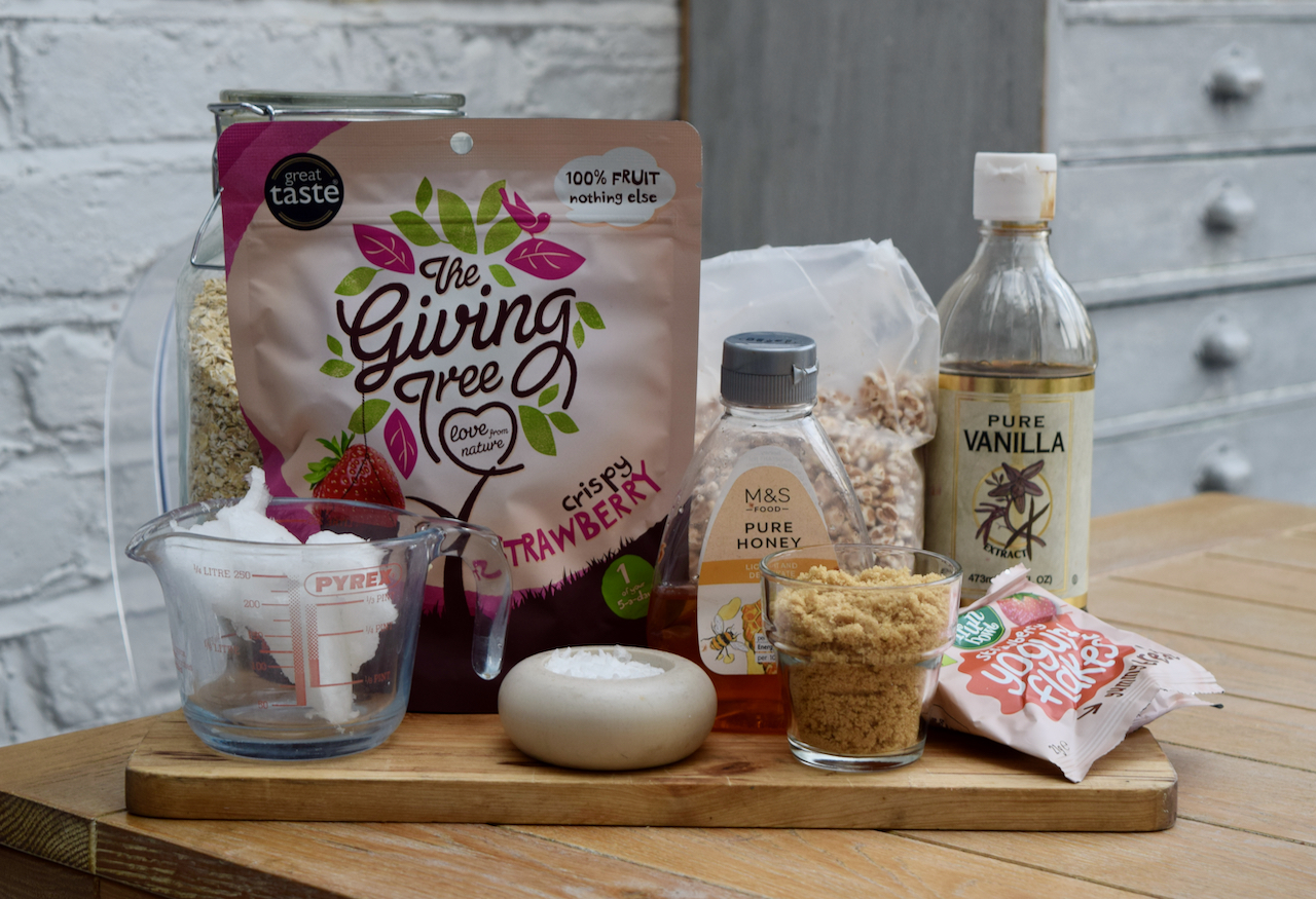 Homemade Strawberry Oat Crisp recipe from Lucy Loves Food Blog
