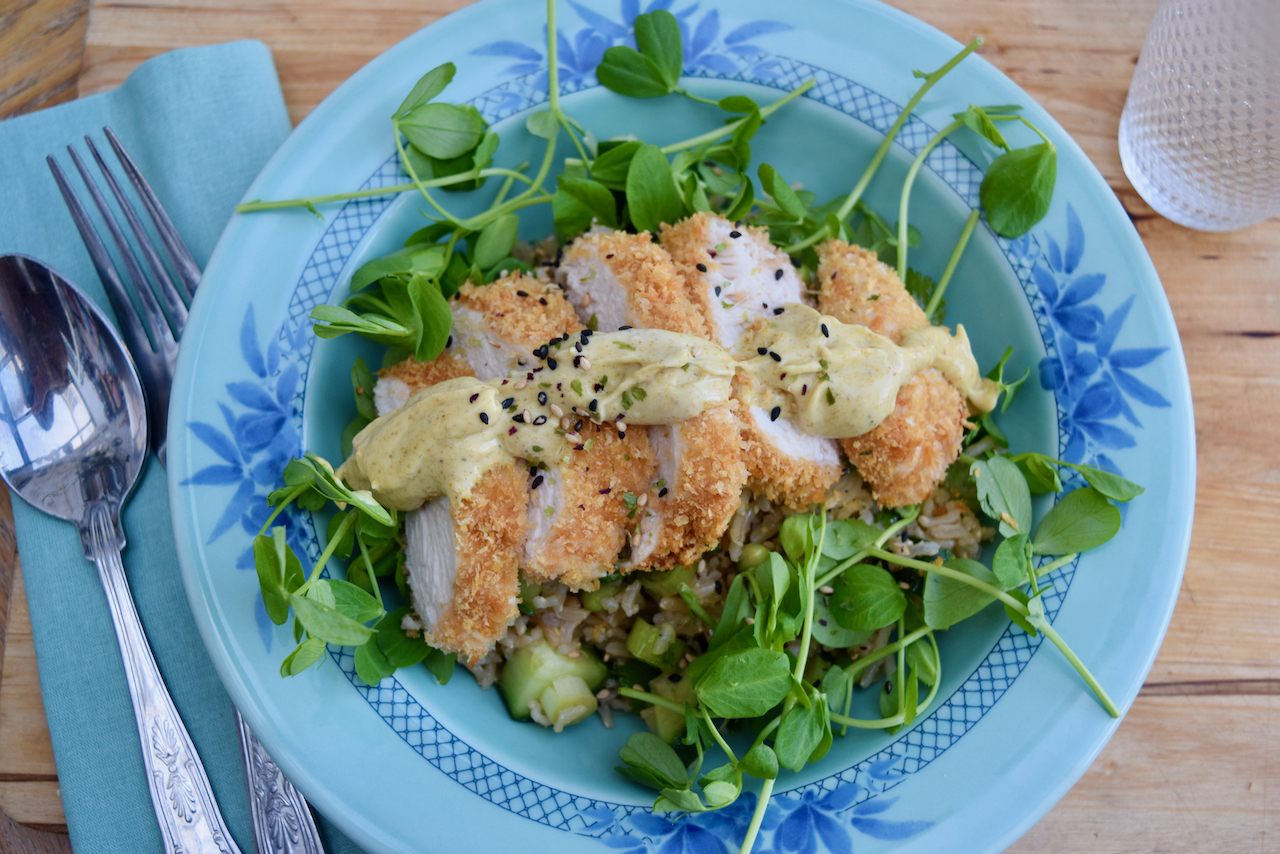 Katsu Chicken Salad Bowl recipe from Lucy Loves Food Blog