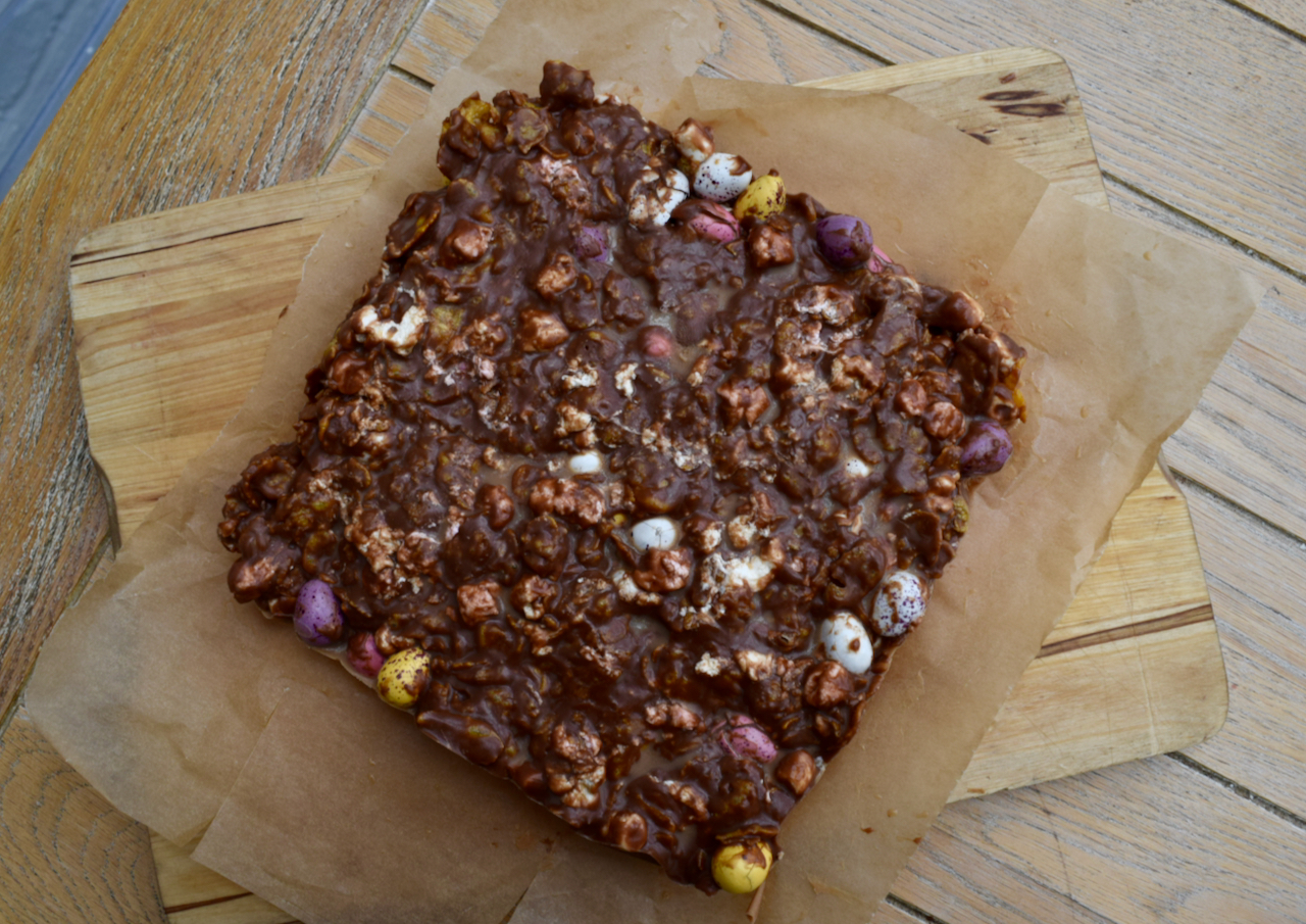 Mini Egg and Cornflake Rocky Road recipe from Lucy Loves Food Blog