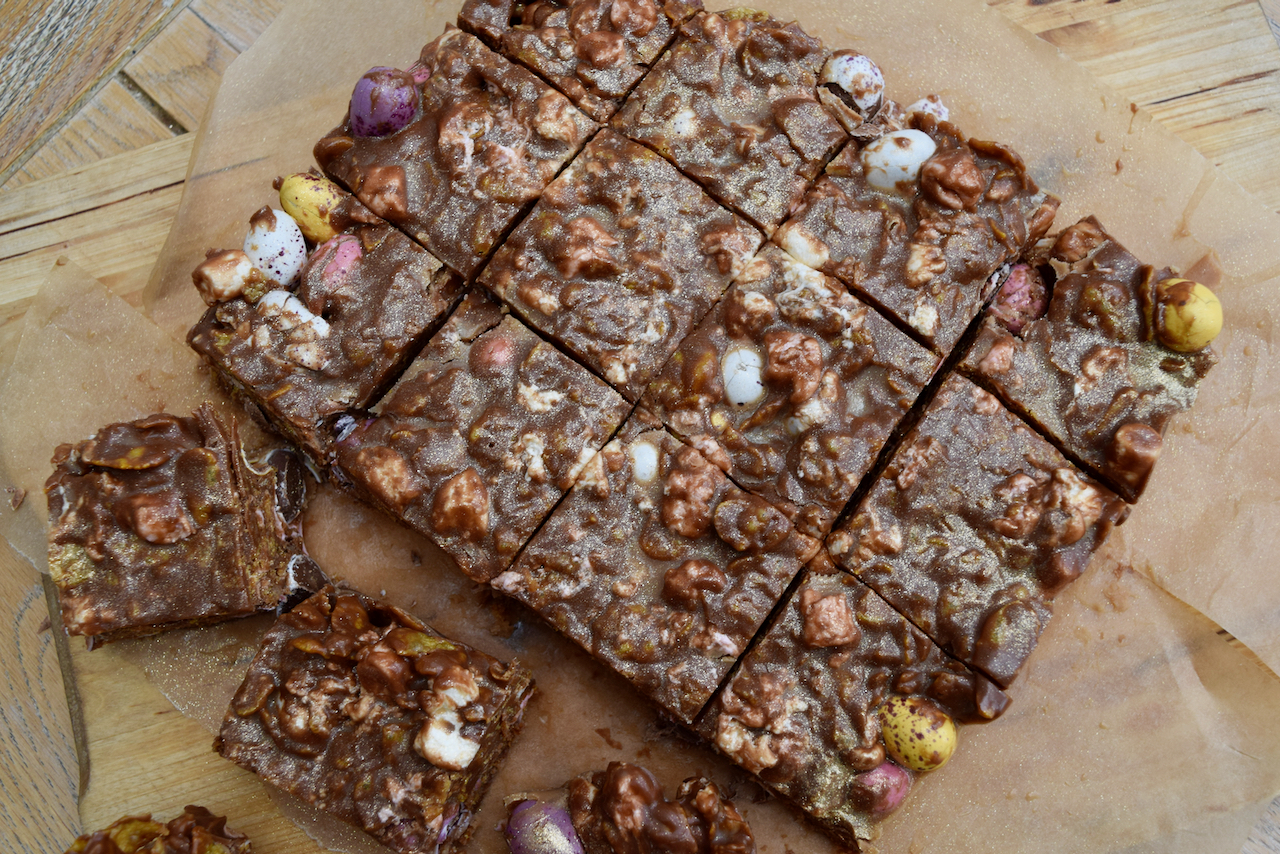 Mini Egg Cornflake Rocky Road recipe from Lucy Loves Food Blog