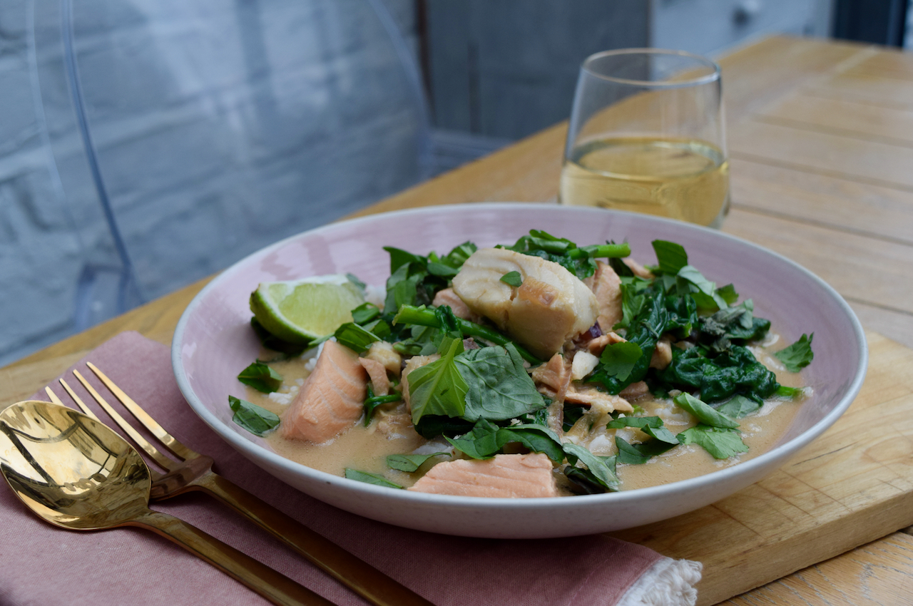 Salmon with Coconut and Miso recipe from Lucy Loves Food Blog