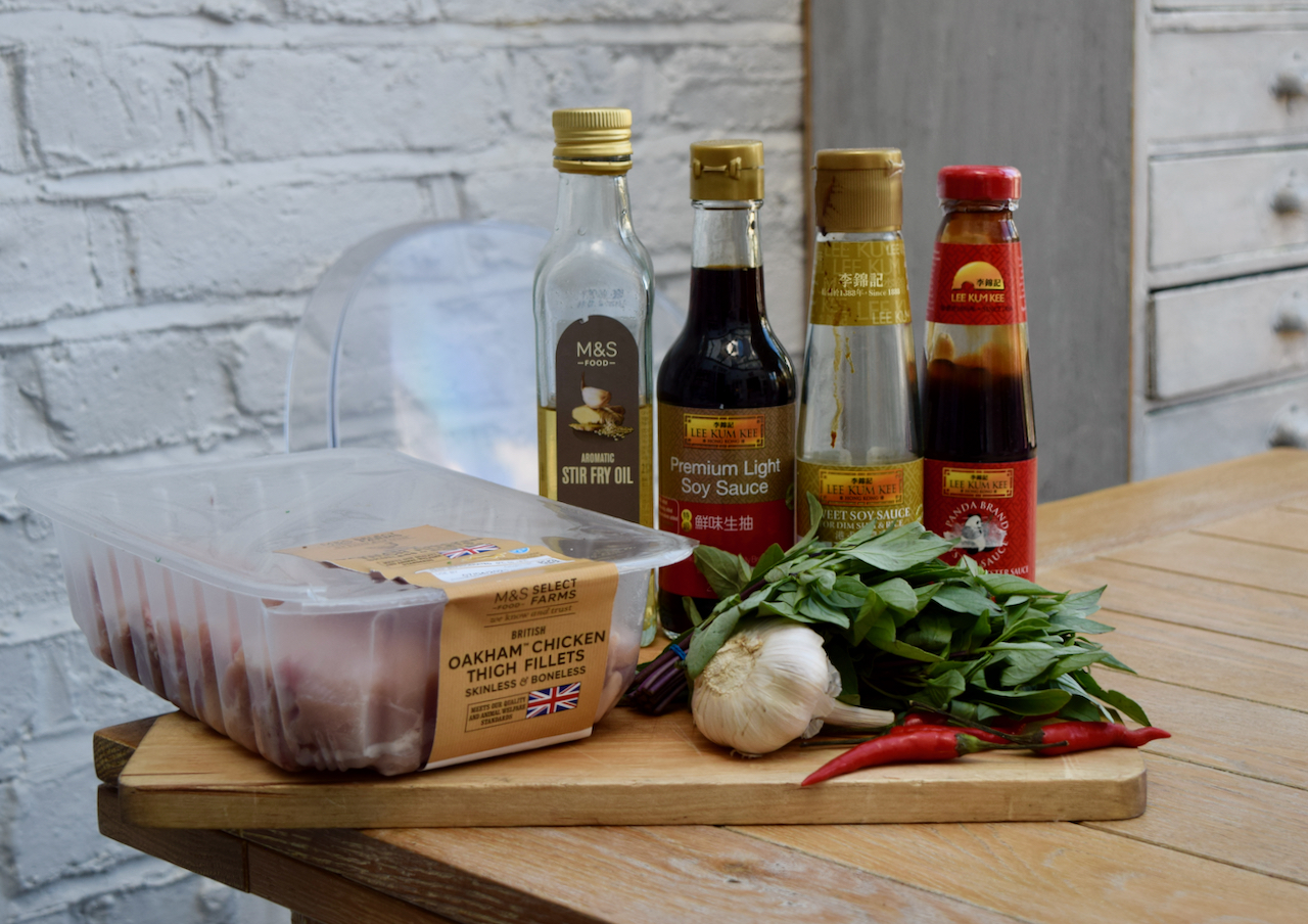 Chicken with Chilli and Thai Basil recipe from Lucy Loves Food Blog