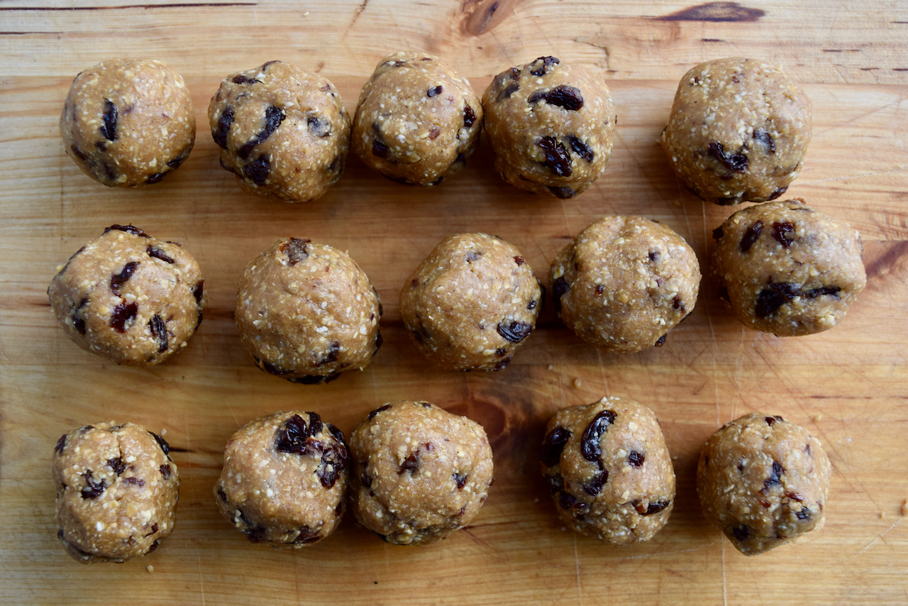 Oat and Raisin Cookie Balls recipe from Lucy Loves Food Blog