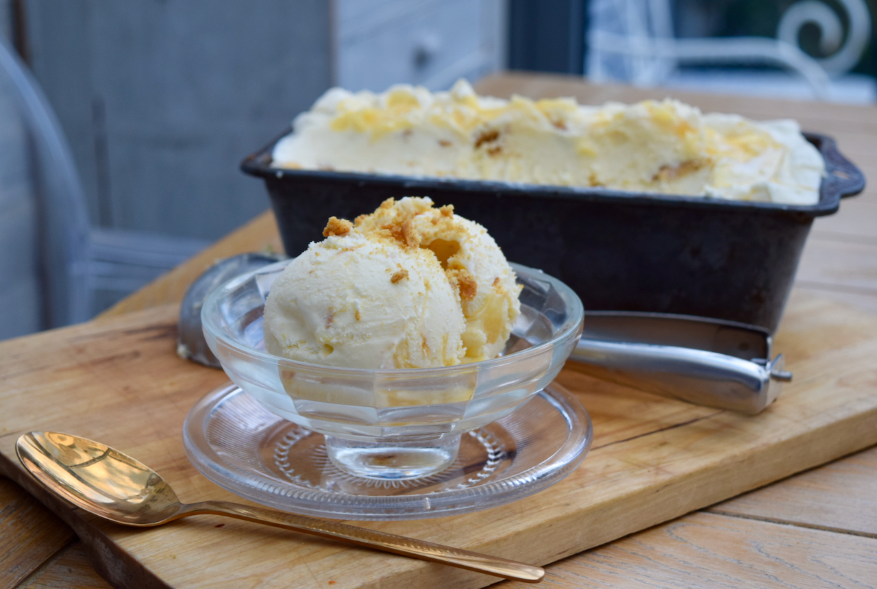 Homemade Lemon Curd Ice Cream recipe from Lucy Loves Food Blog