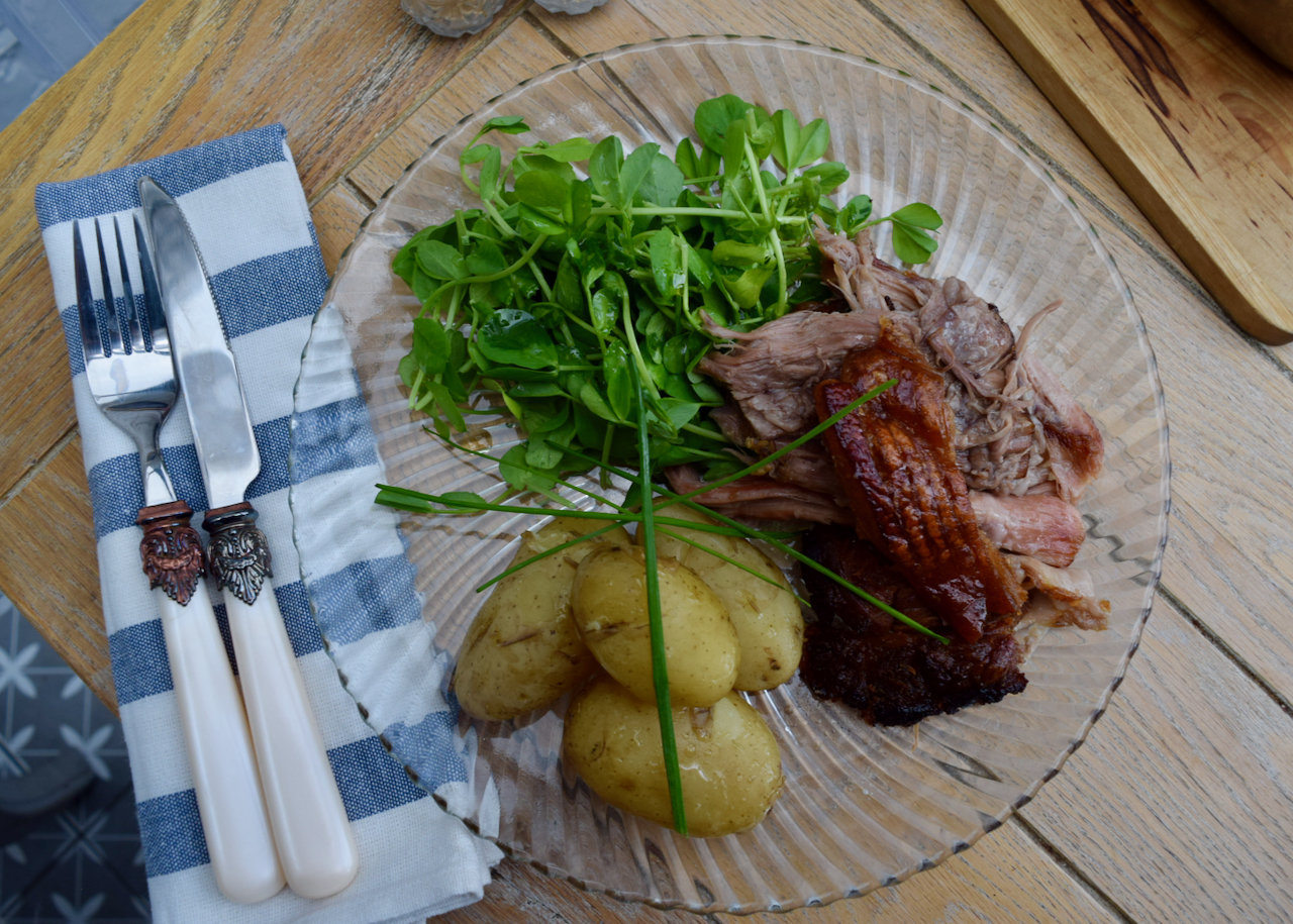 Smoky Slow Roast Pork recipe from Lucy Loves Food Blog