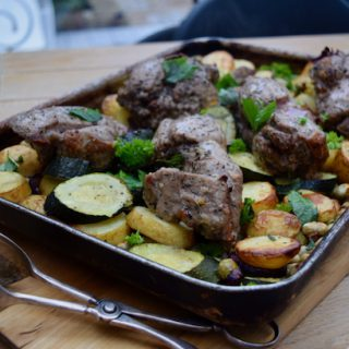 Minted Lamb Traybake recipe from Lucy Loves Food Blog