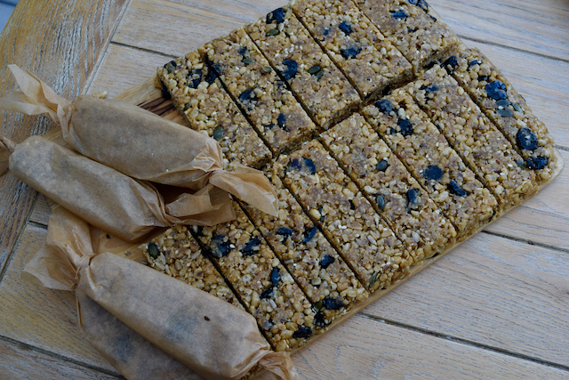 Cherry Coconut Cereal Bars recipe from Lucy Loves Food Blog