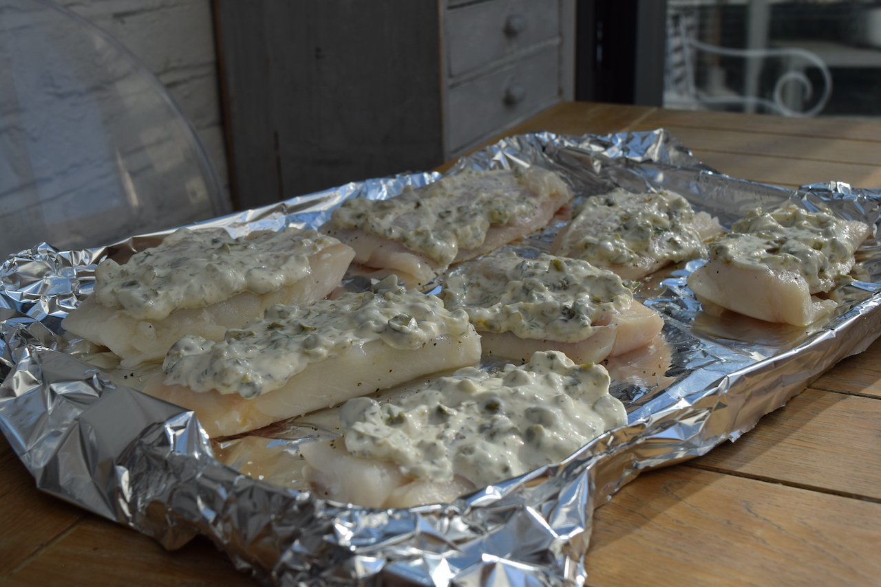 Crisp Baked Fish with Homemade Tartar from Lucy Loves Food Blog