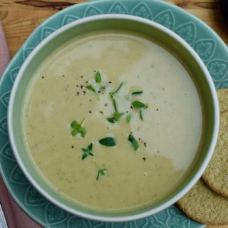 Summer Courgette and Parmesan Soup from Lucy Loves Food Blog