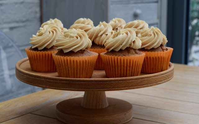 Banana Cupcakes with Peanut Butter Icing