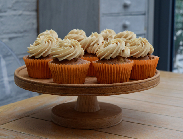 Banana Cupcakes with Peanut Butter Icing from Lucy Loves Food Blog
