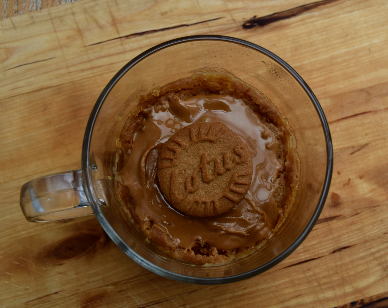 Biscoff Spread Mug Cake recipe from Lucy Loves Food Blog
