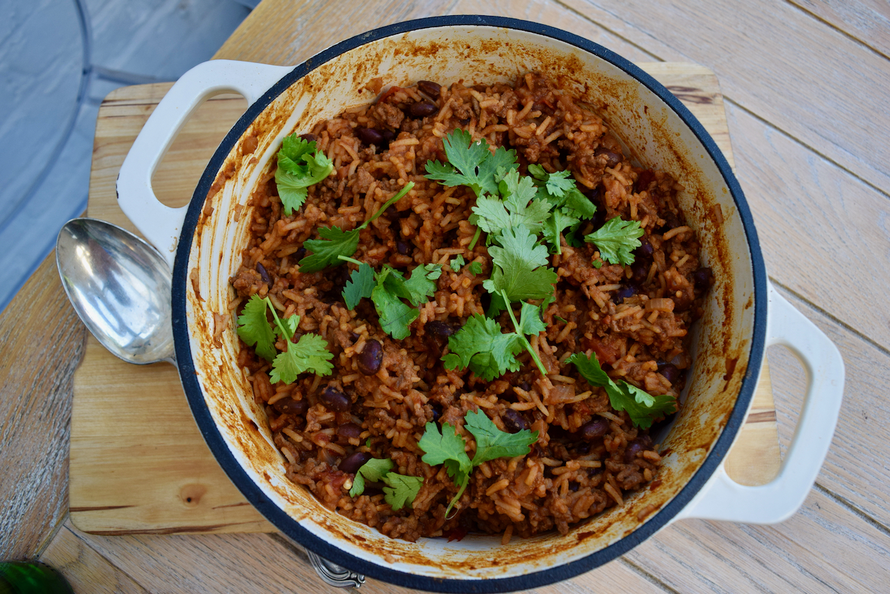 One Pot Chilli Beef with Beans recipe from Lucy Loves Food Blog