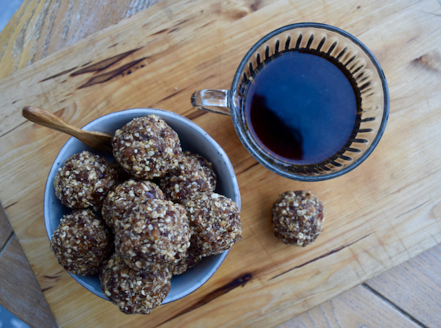 Apple Crumble Energy Balls recipe from Lucy Loves Food Blog