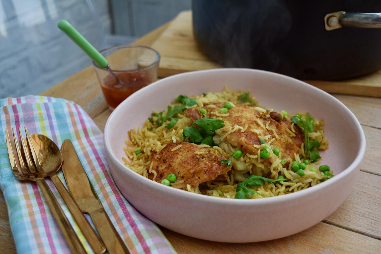 One Pot Chicken Biryani recipe from Lucy Loves Food Blog