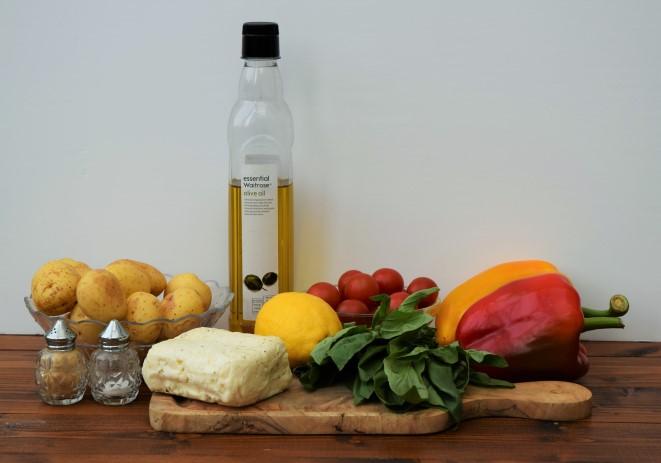 Halloumi-pepper-basil-bake-recipe-lucyloves-foodblog