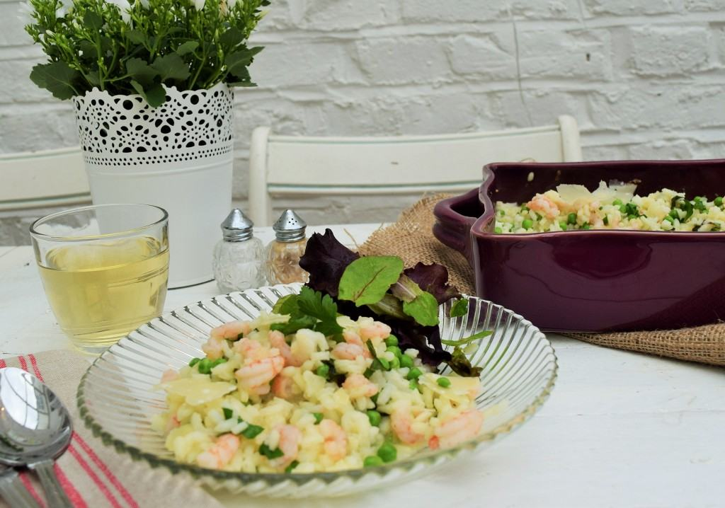Baked-prawn-pea-mint-risotto-lucyloves-foodblog
