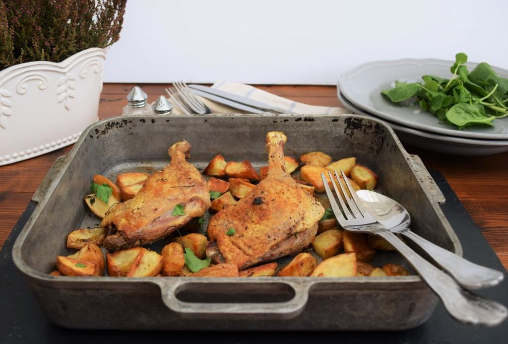 Roasted-duck-potatoes-thyme-lucyloves-foodblog