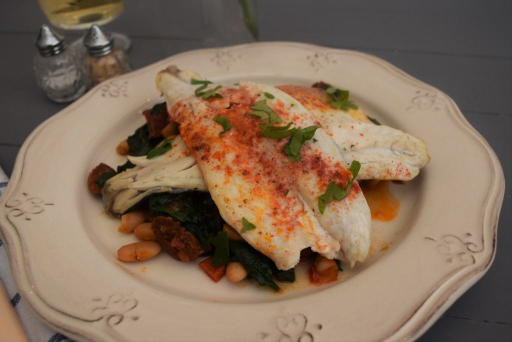 Grilled-fish-bean-spinach-lucyloves-foodblog